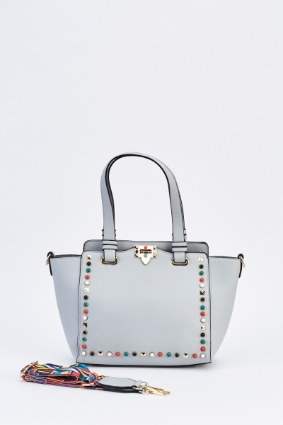 Multi-Studded Trim Winged Bag