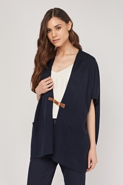 Oversized Box Sleeve Knit Cardigan