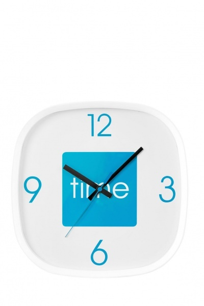 Blue Arco Wall Clock