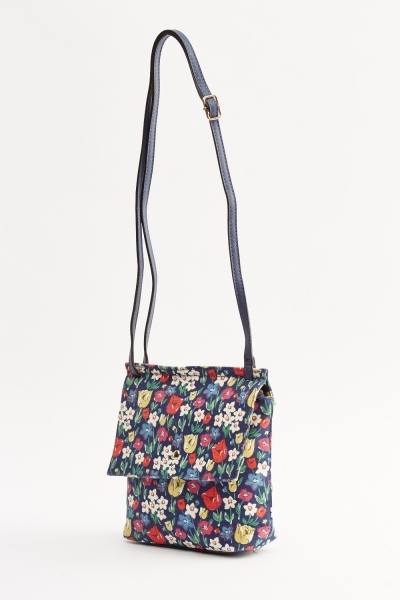 Floral Printed Small Satchel Bag