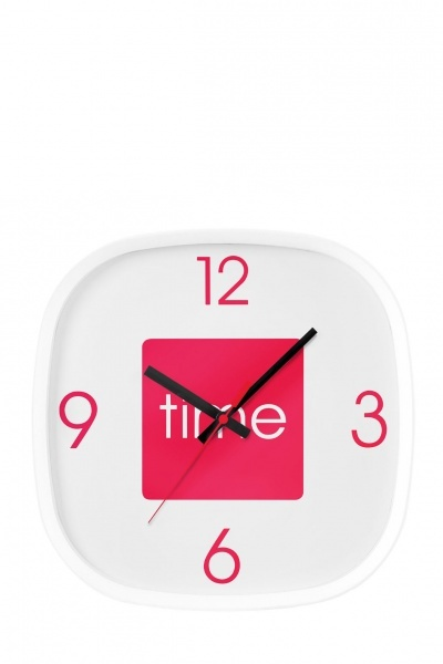 Hot Pink Arco Wall Clock