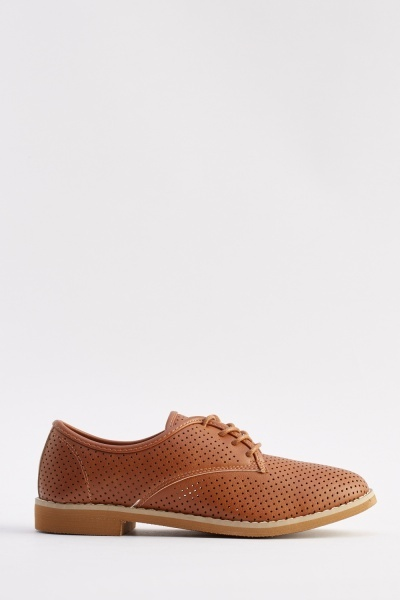 Lace Up Laser Cut Shoes