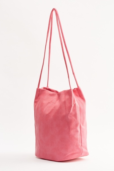 Large Faux Leather Bag