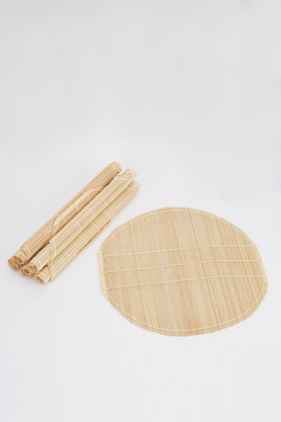 Set Of 6 Wooden Placemats