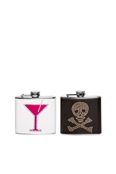 Skull Bone Mixed Set Of 2 Flasks