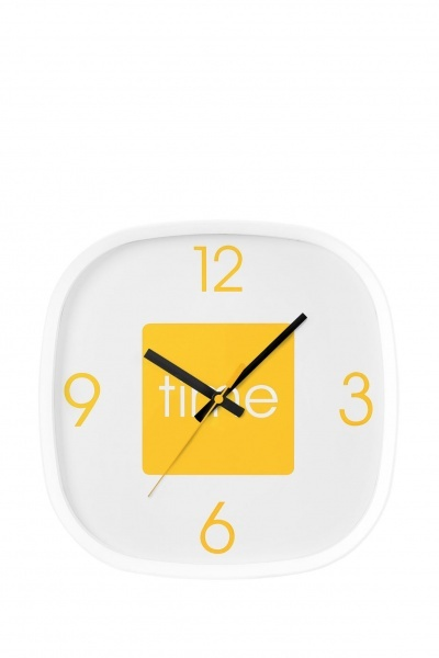 Yellow Arco Wall Clock