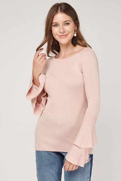 Fine Knit Layered Sleeve Sweater