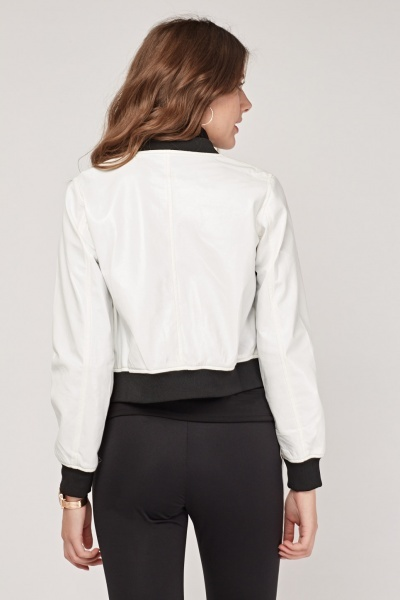 Long Sleeve PVC Bomber Jacket
