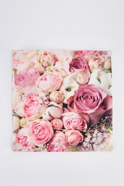 Rose Floral Print Cushion