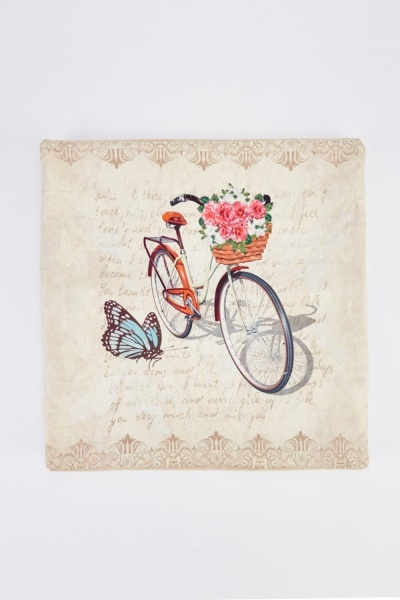 Vintage Floral Bike Cushion