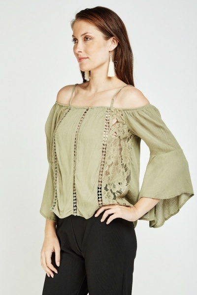 Crochet Insert Crinkled Top