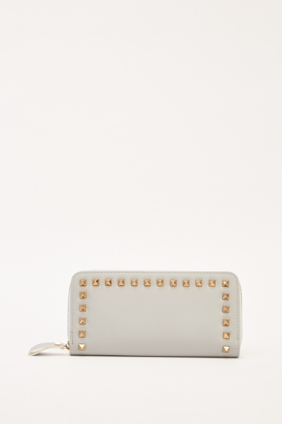 Studded Faux Leather Purse
