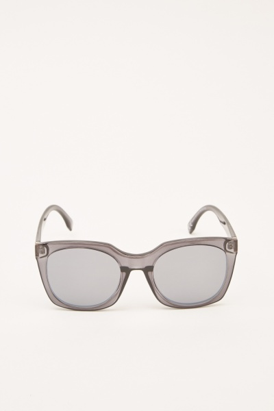 Charcoal Square Sunglasses