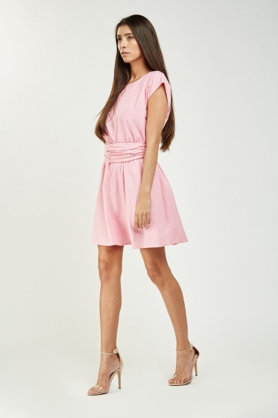 Tie Up Mini Babydoll Dress