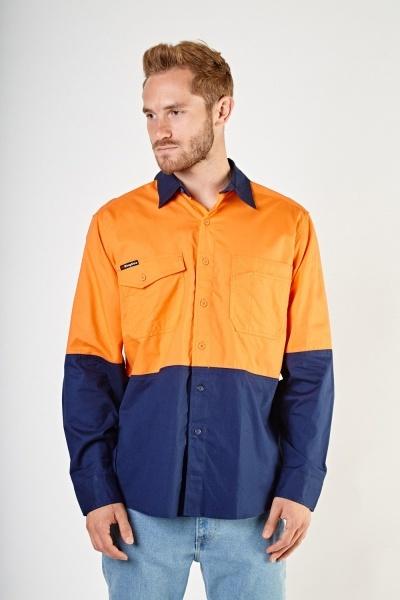 Colour Block Over Shirt