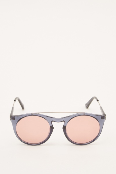 Panto Mirrored Sunglasses