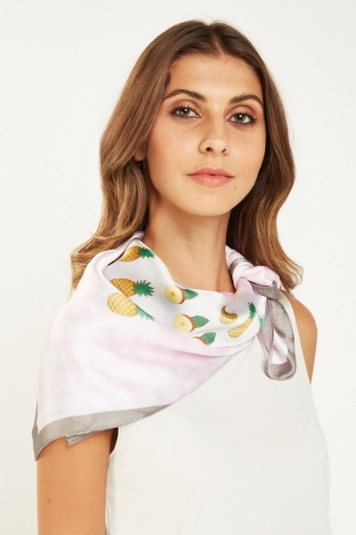 Pineapple Printed Scarf