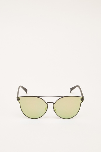 Thin Framed Mirrored Sunglasses