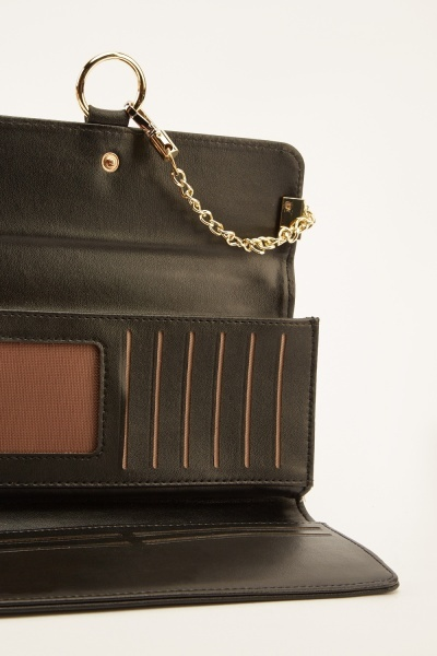 Contrast Chain Detailed Purse