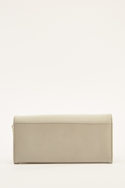Contrast Two Tone Chain Purse