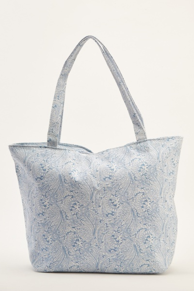 Printed Large Shopper Bag