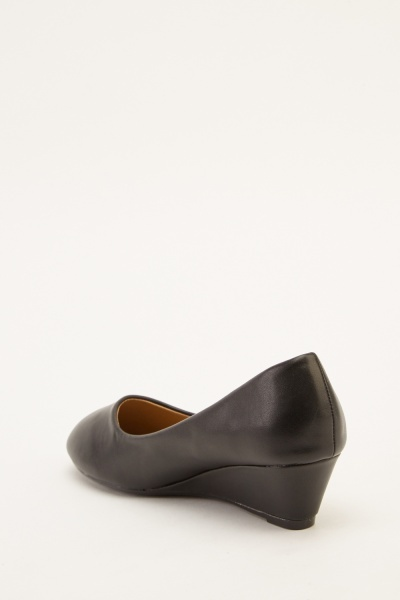 Slip On Low Wedge Shoes