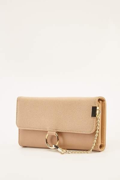 Two Tone Detailed Chain Purse