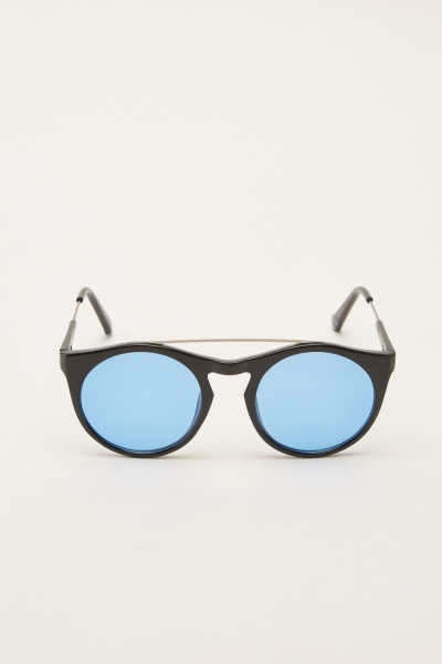 Black Panto Sunglasses