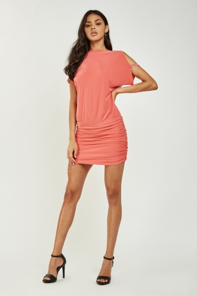 Cowl Neck Back Mini Dress