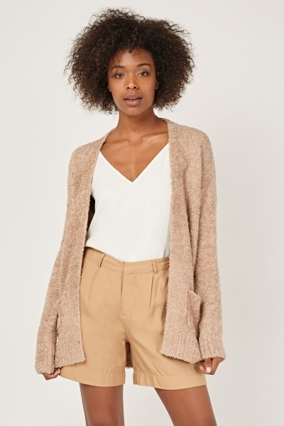 Eyelash Knit Slouchy Cardigan