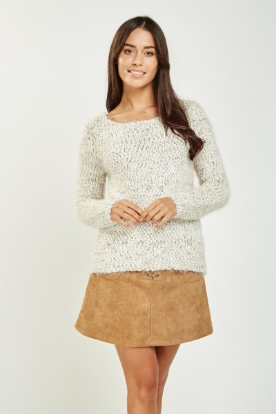 Speckled Eyelash Knit Jumper
