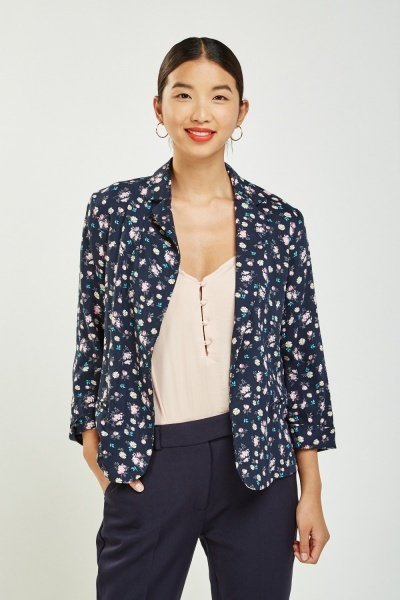 Calico Printed Thin Blazer