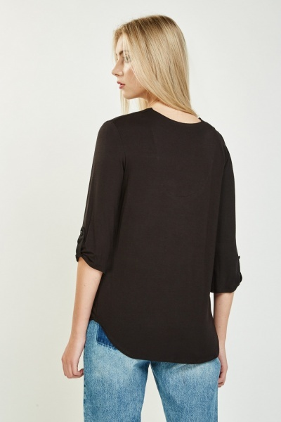 Casual Button Front Top