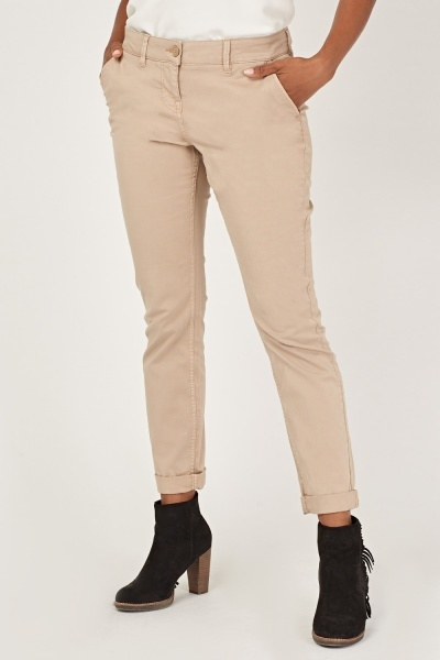 Casual Straight Fit Chinos