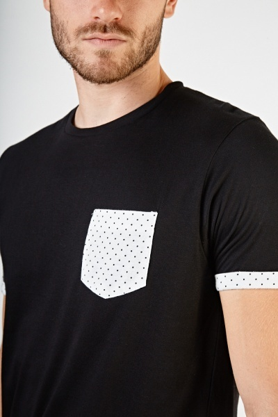 Polka Dot Trim T-Shirt