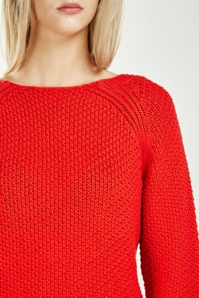 Side Slit Chunky Knit Jumper