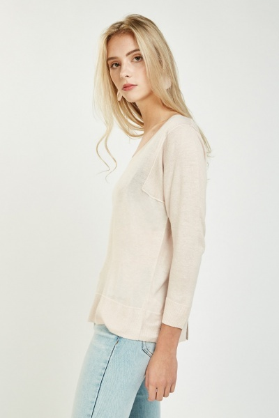 Slit Back Knit Sweater