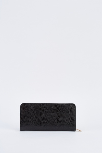 Classic Faux Leather Zip Purse