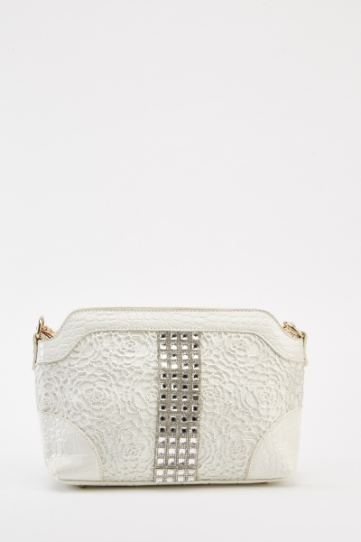 Encrusted PVC Shoulder Bag
