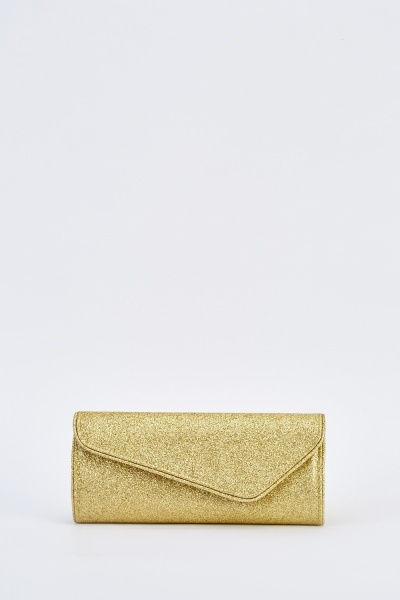 Glittered Envelope Clutch Bag