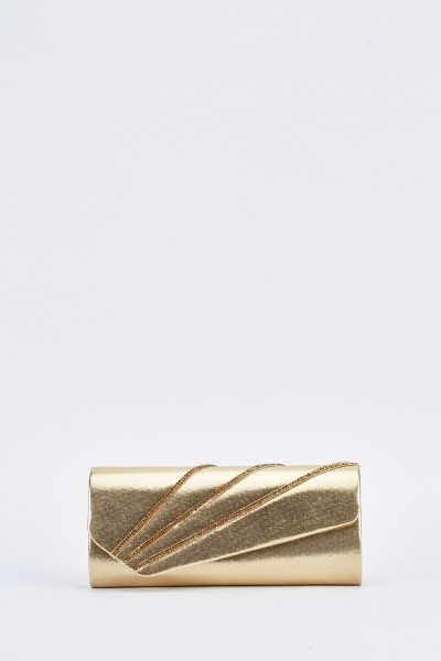 Metallic Diamante Trim Clutch