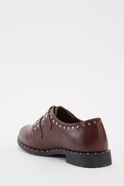 Studded Buckle Trim Brogues