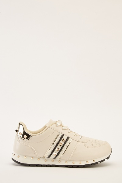 Studded Contrast Trainers