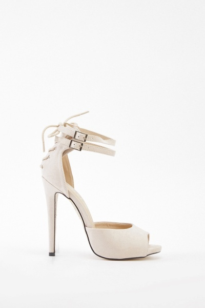 Suedette Open Toe Sandals