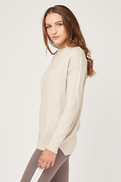 Plain Fine Knit Sweater