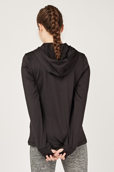 Zip Up Sports Hooded Top