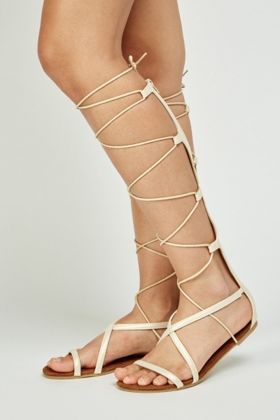 Knee High Lace Up Sandals