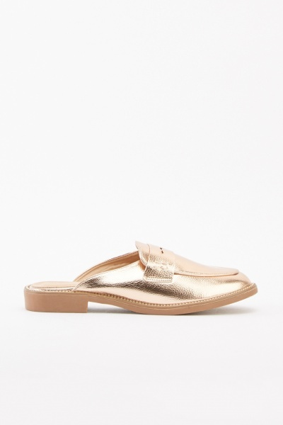 Metallic Slip-On Loafers