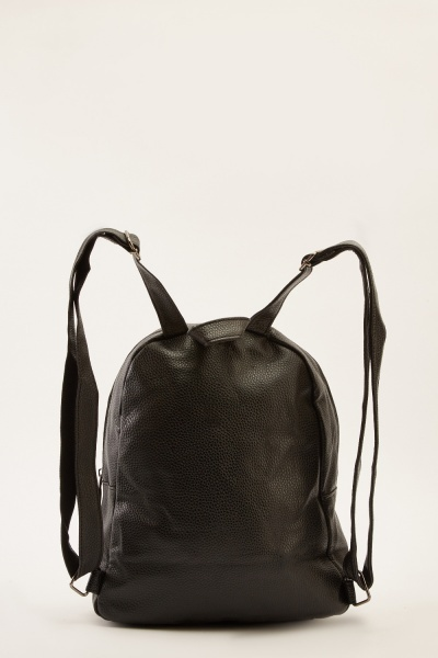 Small Faux Leather Backpack