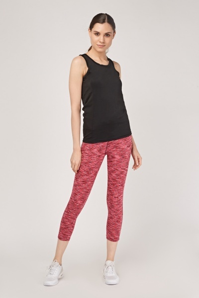 Ankle Cropped Speckled Sports Leggings